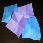 あじさいの折り紙の簡単な折り方♪雨の日に子供と折ってみた!