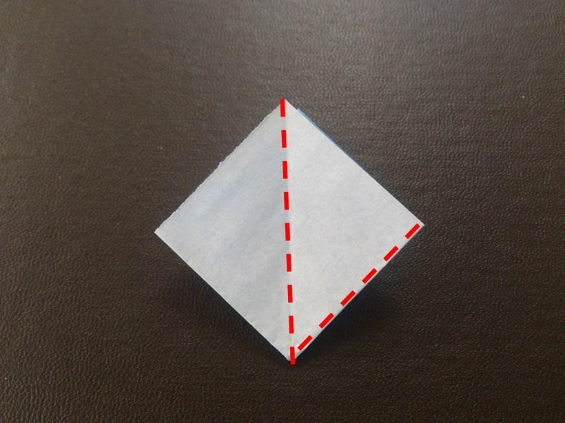 簡単 折り紙 子供 簡単 折り紙 : あじさいの折り紙の簡単な折り ...
