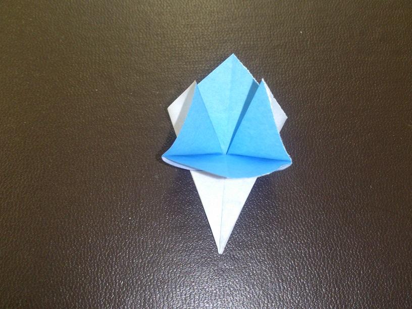 すべての折り紙 あじさい 折り紙 簡単 : あじさいの折り紙の簡単な折り ...