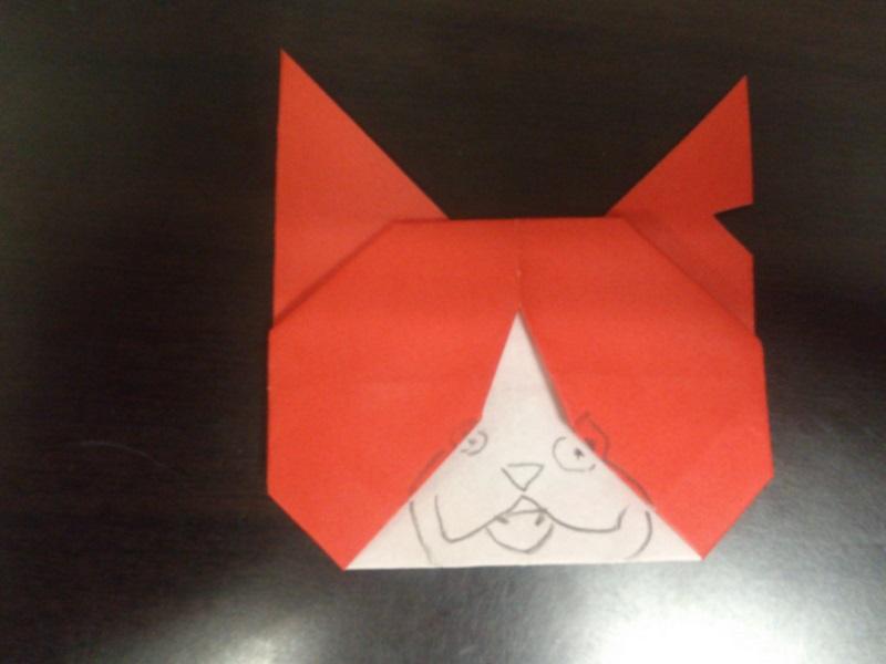 すべての折り紙 サンタクロース折り紙折り方簡単 : ジバニャン 折り紙 折り方 簡単