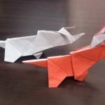 恐竜の折り紙!トリケラトプスの折り方はコレ!写真で解説!