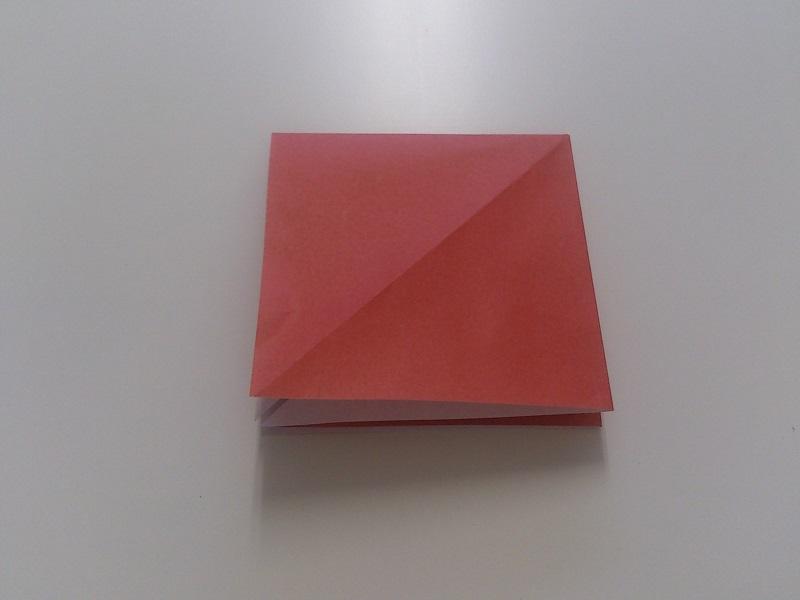すべての折り紙 折り紙 カエル リアル : 反対側も同じく三角を広げて ...