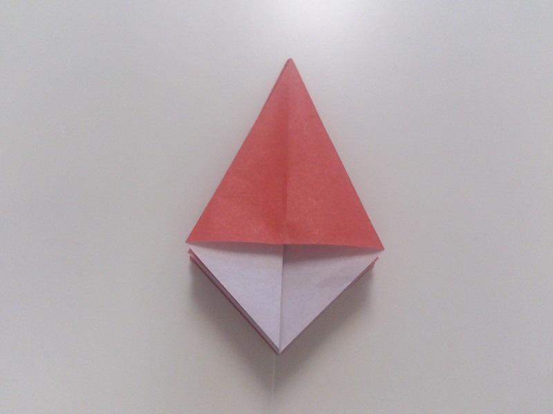 すべての折り紙 折り紙 カエル リアル : つの角を同じく全部立てて ...