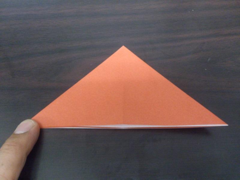 すべての折り紙 折り紙 折り方 恐竜 : そのままもう一度三角に ...