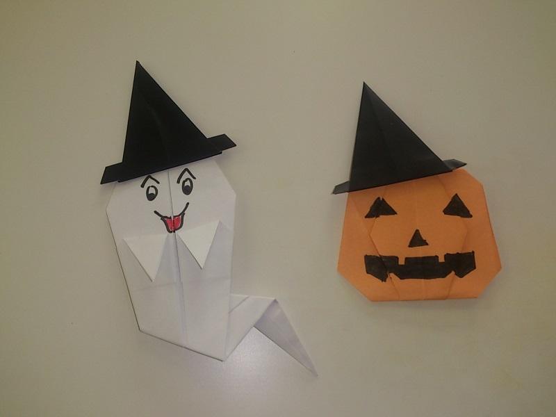 すべての折り紙 折り紙 帽子 立体 : ハロウィンの折り紙の折り方 ...