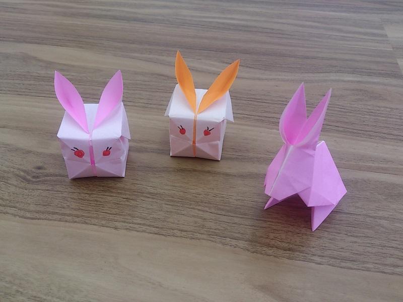 簡単 折り紙 子供 簡単 折り紙 : 風船うさぎの折り紙の折り方 ...
