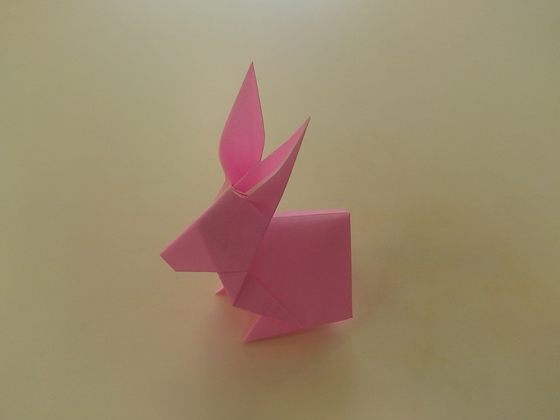 すべての折り紙 折り紙 風船 折り方 : 折り紙のうさぎの折り方♪簡単 ...