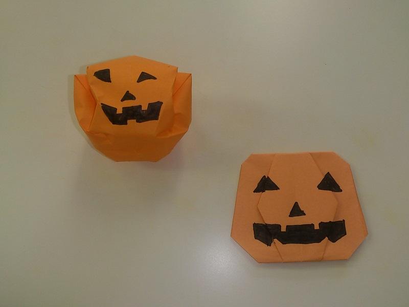 すべての折り紙 ハロウィン 飾り 折り紙 : ハロウィンのかぼちゃの折り紙 ...