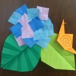 折り紙のかたつむりの簡単な折り方!カレンダーにも貼れるよ♪