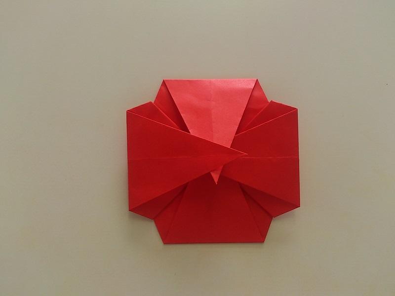 すべての折り紙 折り紙 本 簡単 : 折り紙のバラの折り方!一番 ...