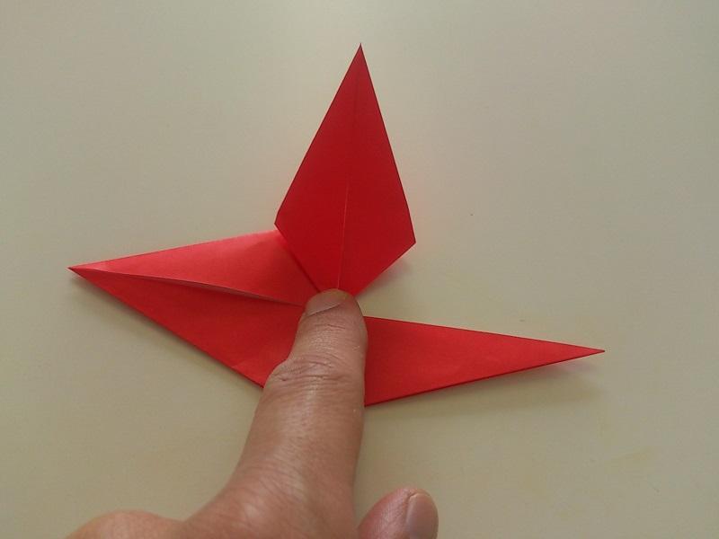 すべての折り紙 折り紙バラ折り方簡単平面 : 折り紙のバラの折り方!一番 ...