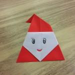 サンタクロースの折り紙の簡単な折り方!幼稚園児も折れるよ♪